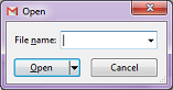Open File dialog box