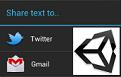 Share Text + Unity